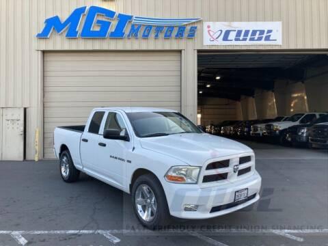 2012 RAM Ram Pickup 1500 for sale at MGI Motors in Sacramento CA