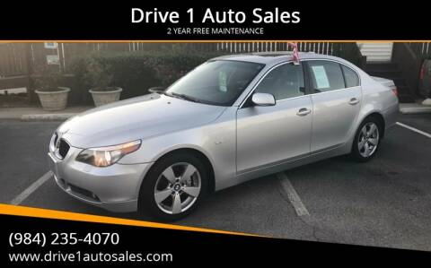 2006 BMW 5 Series for sale at Drive 1 Auto Sales in Wake Forest NC