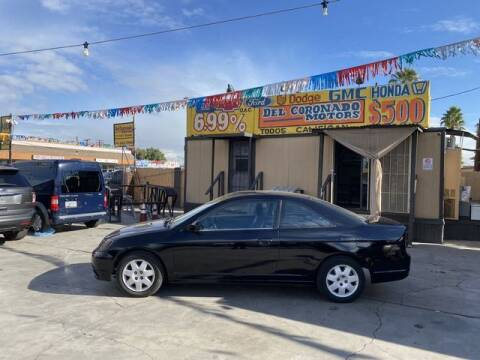 2002 Honda Civic for sale at DEL CORONADO MOTORS in Phoenix AZ
