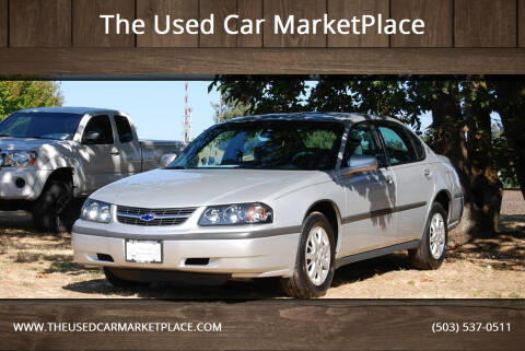 2003 Chevrolet Impala for sale at The Used Car MarketPlace in Newberg OR