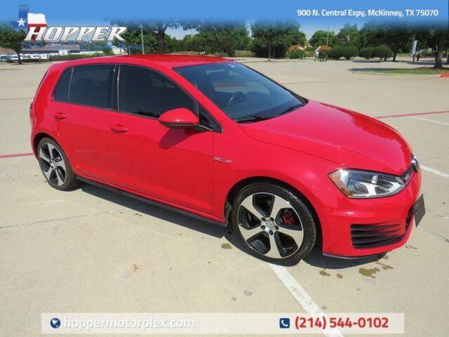 2017 Volkswagen Golf GTI for sale in Mckinney, TX