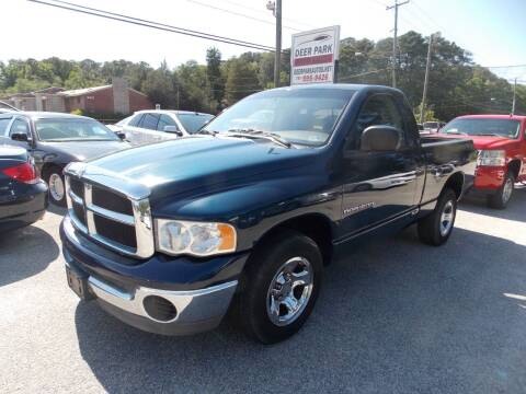 2004 Dodge Ram Pickup 1500 for sale at Deer Park Auto Sales Corp in Newport News VA