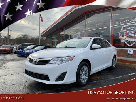 2012 Toyota Camry for sale at USA Motor Sport inc in Marlborough MA