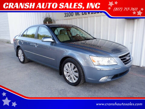 2009 Hyundai Sonata for sale at CRANSH AUTO SALES, INC in Arlington TX