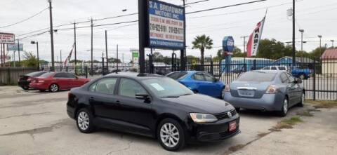 2011 Volkswagen Jetta for sale at S.A. BROADWAY MOTORS INC in San Antonio TX