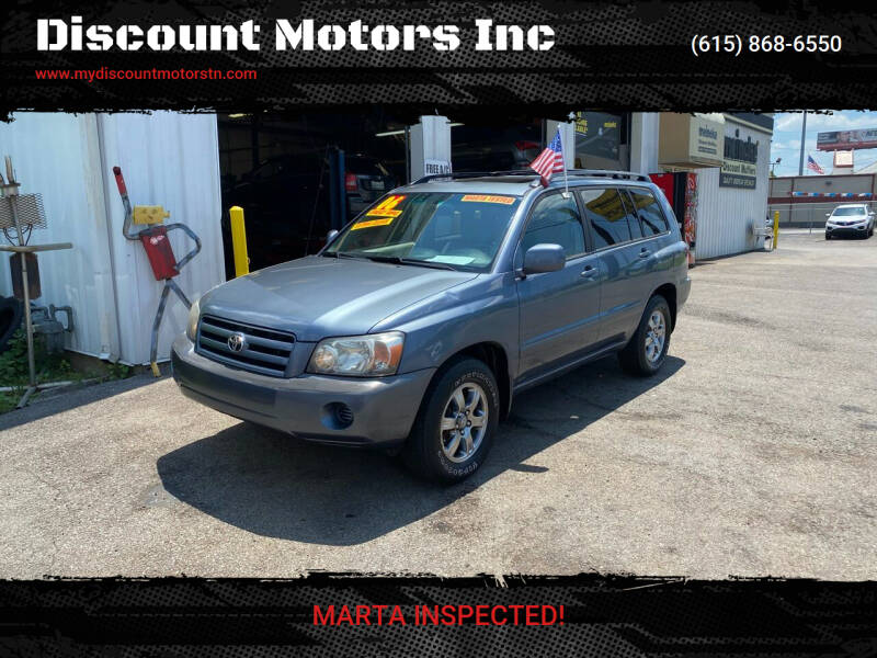 2005 Toyota Highlander for sale at Discount Motors Inc in Madison TN