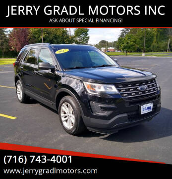 2017 Ford Explorer for sale at JERRY GRADL MOTORS INC in North Tonawanda NY