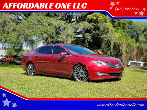 2016 Lincoln MKZ for sale at AFFORDABLE ONE LLC in Orlando FL