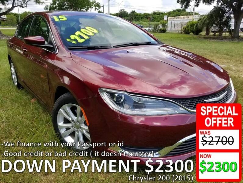 2015 Chrysler 200 for sale at AUTO COLLECTION OF SOUTH MIAMI in Miami FL