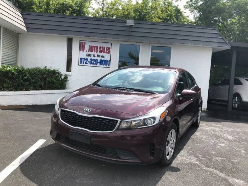 2017 Kia Forte for sale at IV AUTO SALES in Mesquite TX