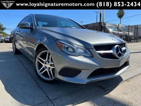 2014 Mercedes-Benz E-Class for sale at Loyal Signature Motors Inc. in Van Nuys CA
