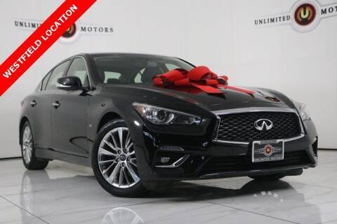 2018 Infiniti Q50 for sale at INDY'S UNLIMITED MOTORS - UNLIMITED MOTORS in Westfield IN
