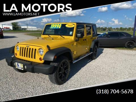 2008 Jeep Wrangler Unlimited for sale at LA MOTORS in Alexandria LA