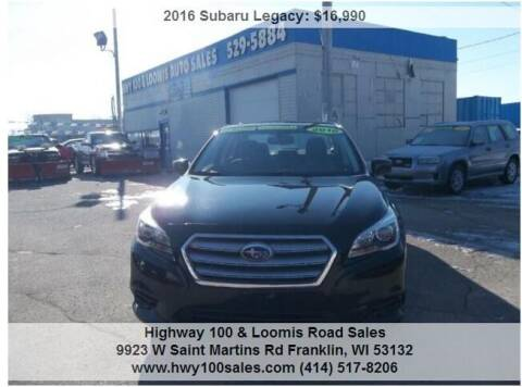 2016 Subaru Legacy for sale at Highway 100 & Loomis Road Sales in Franklin WI