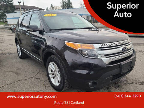 2014 Ford Explorer for sale at Superior Auto in Cortland NY