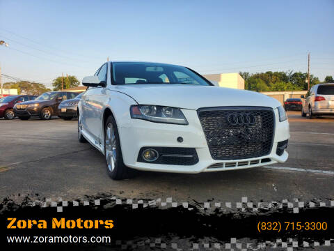 2011 Audi A4 for sale at Zora Motors in Houston TX