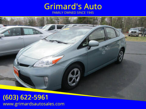 2013 Toyota Prius for sale at Grimard's Auto in Hooksett, NH