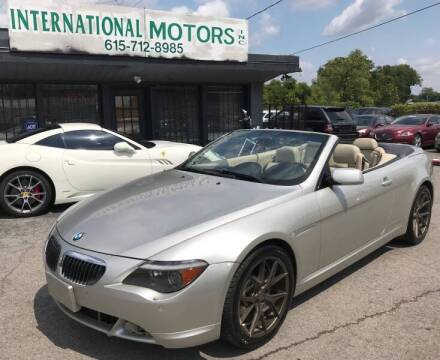 2006 BMW 6 Series for sale at International Motors Inc. in Nashville TN