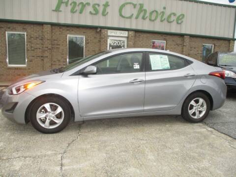 2015 Hyundai Elantra for sale at First Choice Auto in Greenville SC