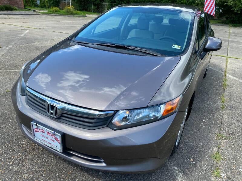 2012 Honda Civic for sale at Hilton Motors Inc. in Newport News VA