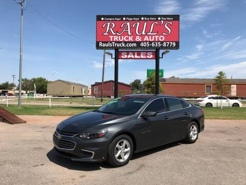 2017 Chevrolet Malibu for sale at RAUL'S TRUCK & AUTO SALES, INC in Oklahoma City OK