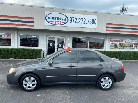 2006 Kia Spectra for sale at Traditional Autos in Dallas TX
