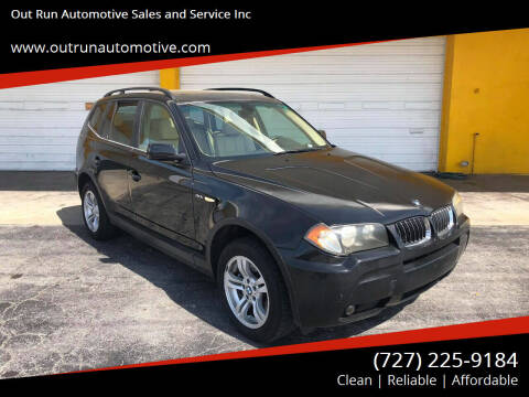 2006 BMW X3 for sale at Out Run Automotive Sales and Service Inc in Tampa FL