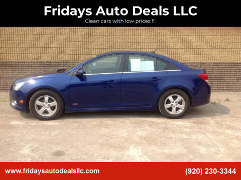 2012 Chevrolet Cruze for sale at Fridays Auto Deals LLC in Oshkosh WI