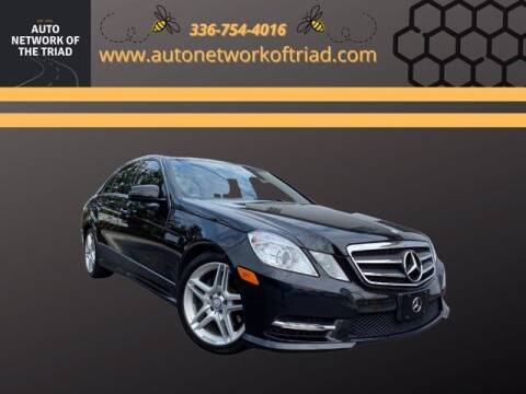 2013 Mercedes-Benz E-Class for sale at Auto Network of the Triad in Walkertown NC