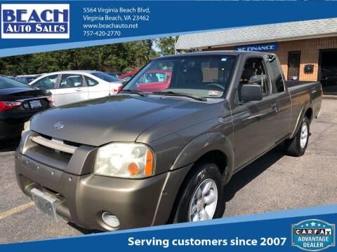 2001 Nissan Frontier for sale at Beach Auto Sales in Virginia Beach VA