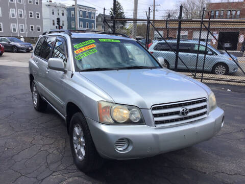 2002 Toyota Highlander for sale at Adams Street Motor Company LLC in Dorchester MA