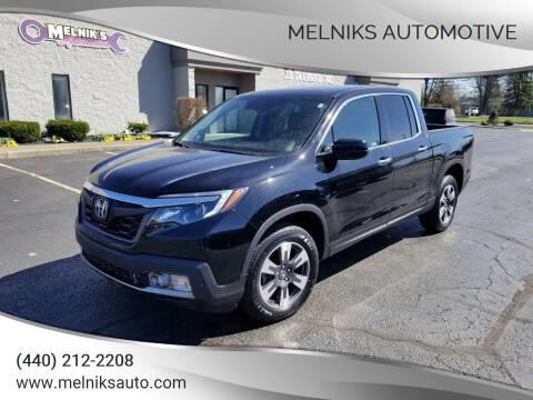 2019 Honda Ridgeline for sale at Melniks Automotive in Berea OH