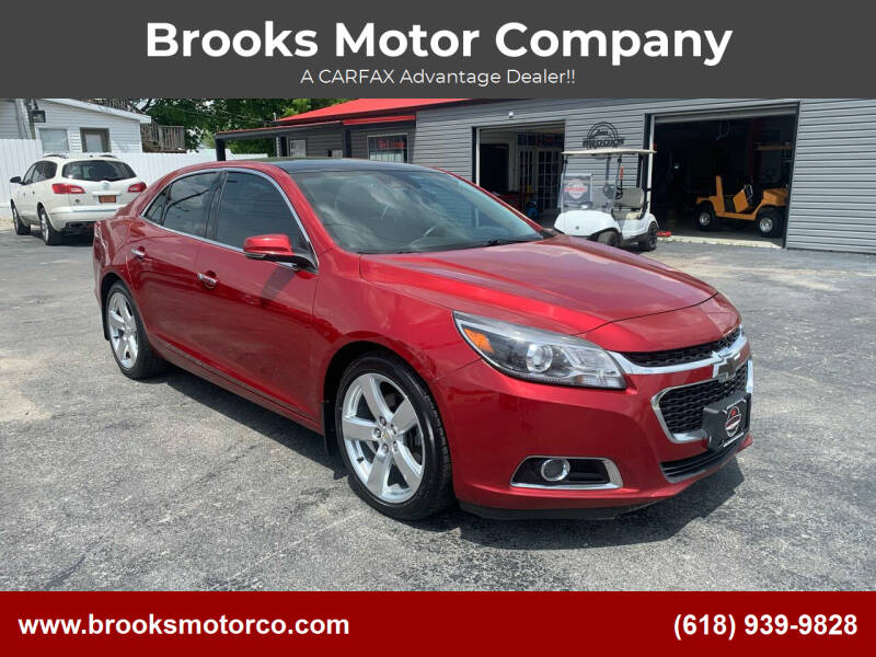 2014 Chevrolet Malibu for sale at Brooks Motor Company in Columbia IL