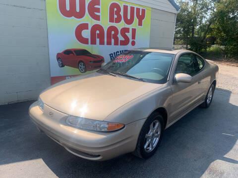 2001 Oldsmobile Alero for sale at Right Price Auto Sales in Murfreesboro TN