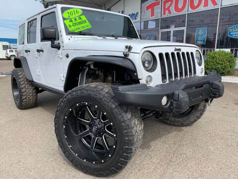2016 Jeep Wrangler Unlimited for sale at Xtreme Truck Sales in Woodburn OR