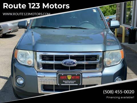 2010 Ford Escape for sale at Route 123 Motors in Norton MA