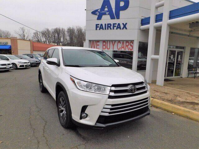 2017 Toyota Highlander for sale at AP Fairfax in Fairfax VA
