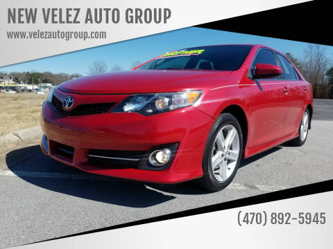 2012 Toyota Camry for sale at NEW VELEZ AUTO GROUP in Gainesville GA
