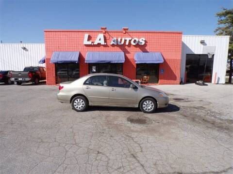2004 Toyota Corolla for sale at L A AUTOS in Omaha NE