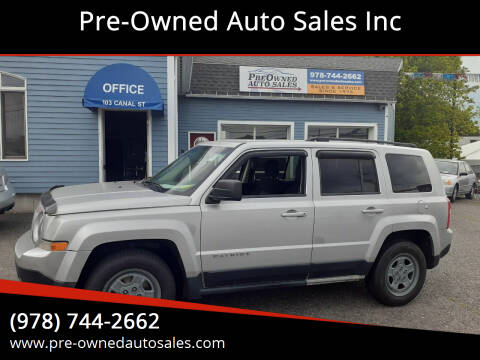 2011 Jeep Patriot for sale at Pre-Owned Auto Sales Inc in Salem MA