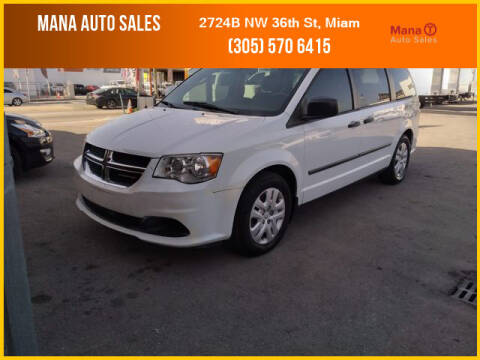 2012 Dodge Grand Caravan for sale at MANA AUTO SALES in Miami FL