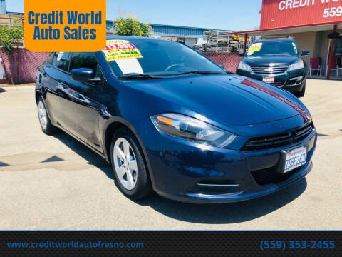 2016 Dodge Dart for sale at Credit World Auto Sales in Fresno CA