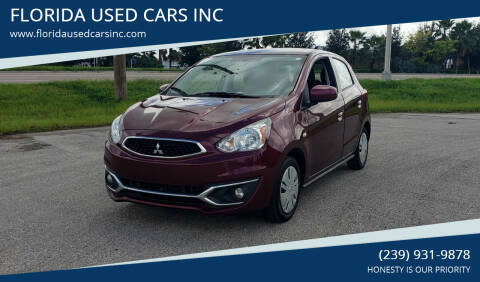 2017 Mitsubishi Mirage for sale at FLORIDA USED CARS INC in Fort Myers FL
