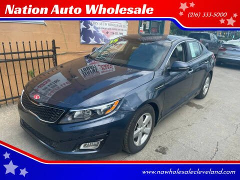 2015 Kia Optima for sale at Nation Auto Wholesale in Cleveland OH