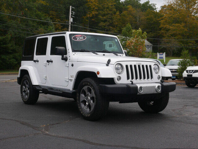2017 Jeep Wrangler Unlimited for sale at Canton Auto Exchange in Canton CT