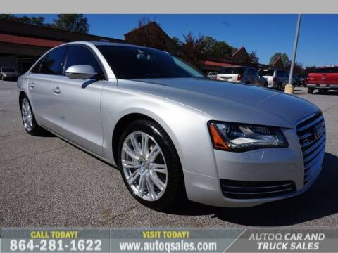 2014 Audi A8 for sale at Auto Q Car and Truck Sales in Mauldin SC