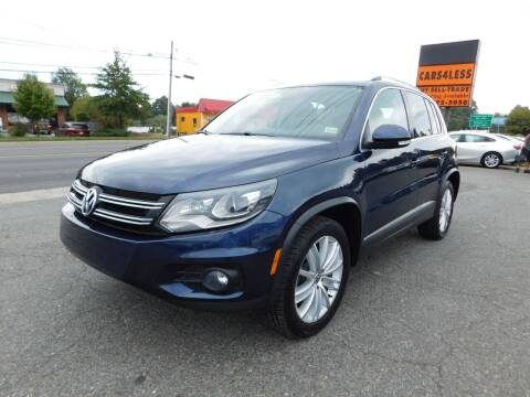 2012 Volkswagen Tiguan for sale at Cars 4 Less in Manassas VA