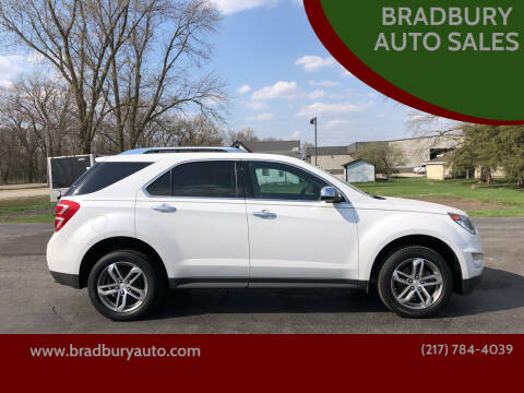 2017 Chevrolet Equinox for sale at BRADBURY AUTO SALES in Gibson City IL