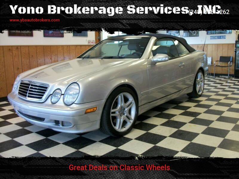 2002 Mercedes-Benz CLK for sale at Yono Brokerage Services, INC in Farmington MI