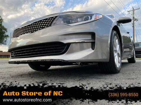 2016 Kia Optima for sale at Auto Store of NC in Walkertown NC